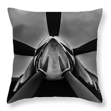 Throw Pillow featuring the photograph Unflyable Weather by Alexander Senin