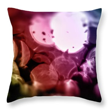 Unfocused Colors Throw Pillow