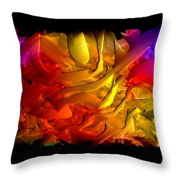 Throw Pillow featuring the digital art Unfolding Dream by Rafael Salazar