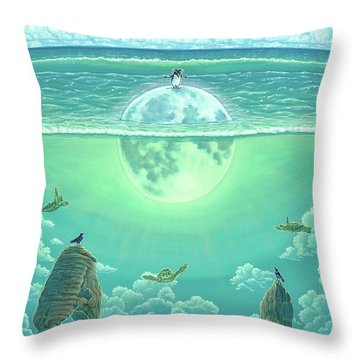Unforeseeable Future Throw Pillow