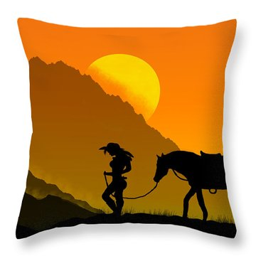 Unforgiven Throw Pillow by Bernd Hau