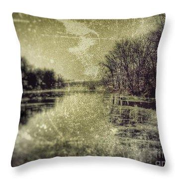 Unfrozen Lake Throw Pillow