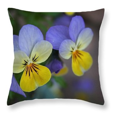 Unfurling Beauties Throw Pillow