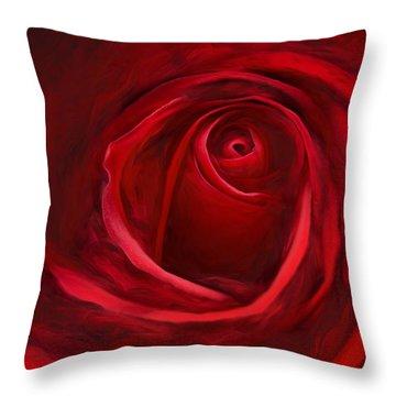 Unfurling Beauty II Throw Pillow