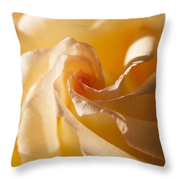 Throw Pillow featuring the photograph Unfurling by Christina Lihani