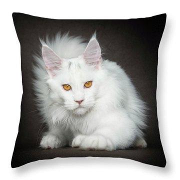 Throw Pillow featuring the photograph Unica by Robert Sijka