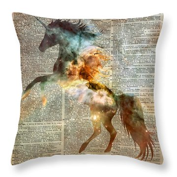 Unicorn Carina Nebula Throw Pillow
