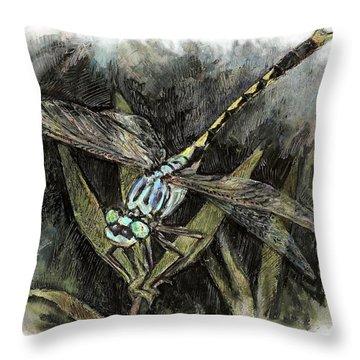Unicorn Clubtail Throw Pillow