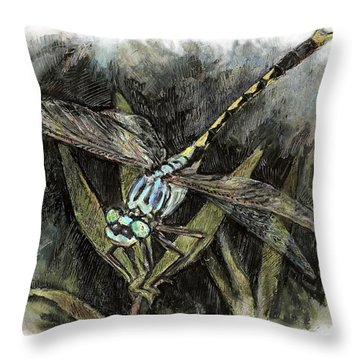 Unicorn Clubtail Throw Pillow