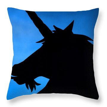 Throw Pillow featuring the photograph Unicorn by Craig B