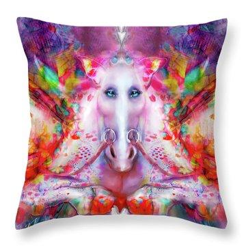 Unicorn Fairy Throw Pillow