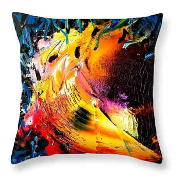 Unicorn Wave Throw Pillow