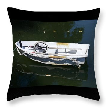 Unicycle Dinghy Throw Pillow