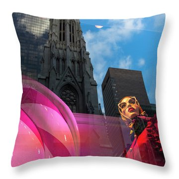 Throw Pillow featuring the photograph Unimpressed In New York by Alex Lapidus