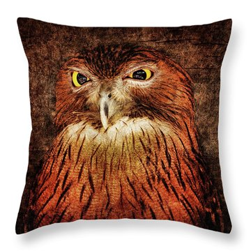 Unimpressed Throw Pillow by Andrew Paranavitana