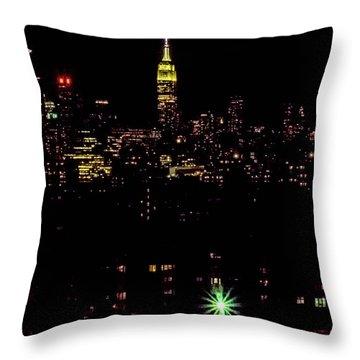 Union City Nj Traffic Throw Pillow
