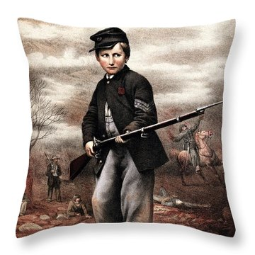 Union Drummer Boy John Clem Throw Pillow