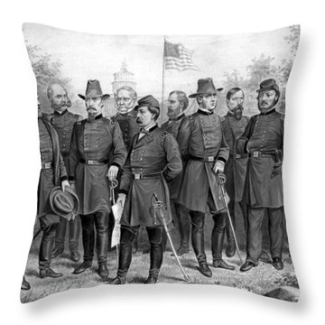 Union Generals Of The Civil War  Throw Pillow