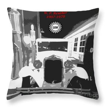 Union Made Throw Pillow by Barbie Corbett-Newmin