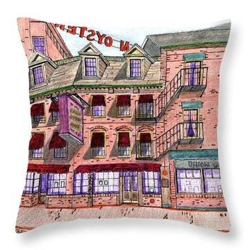 Union Osyter House Boston Throw Pillow