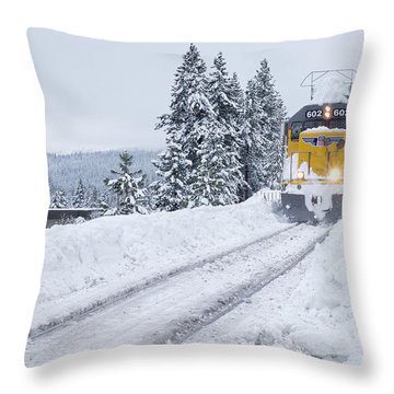 Union Pacific #602 Throw Pillow by Vinnie Oakes