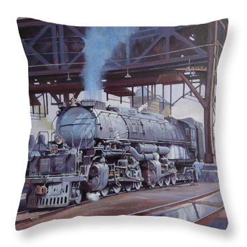 Union Pacific Big Boy Throw Pillow