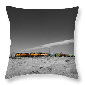 Union Pacific In Columbia Gorge Throw Pillow