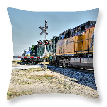 Union Pacific Throw Pillow