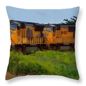 Union Pacific Line Throw Pillow