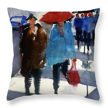 Union Square9 Throw Pillow by Tom Simmons