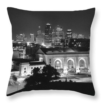 Union Station In Black And White Throw Pillow