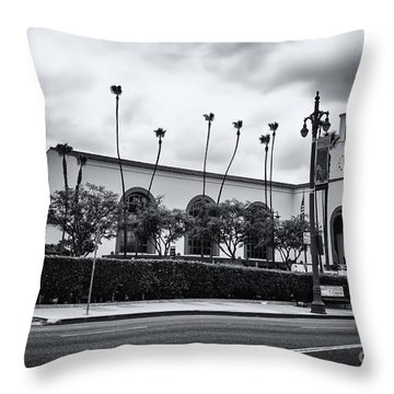 Union Station In Los Angeles Throw Pillow