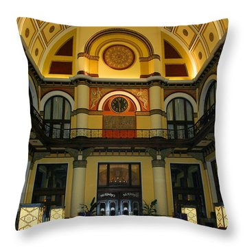 Union Station Lobby Throw Pillow by Kristin Elmquist