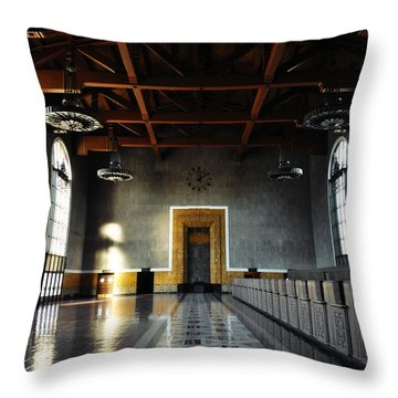 Throw Pillow featuring the photograph Union Station Los Angeles by Kyle Hanson