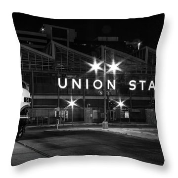 Union Station Night Glow Throw Pillow