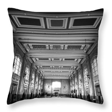 Union Station Perspective Throw Pillow