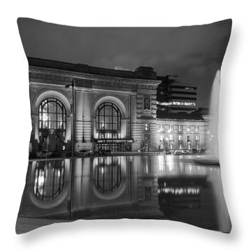Union Station Reflections Throw Pillow