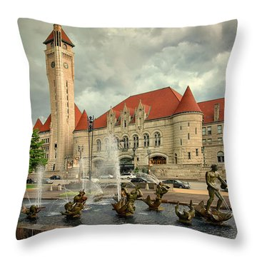 Union Station St Louis Color Dsc00422 Throw Pillow