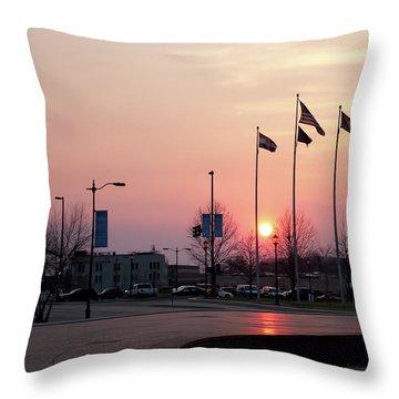 Union Station Sunset Throw Pillow