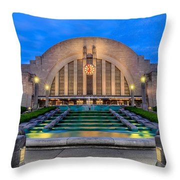 Union Terminal At Sunrise II Throw Pillow