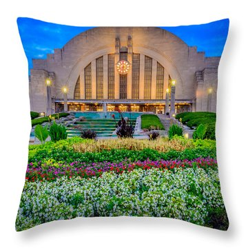 Union Terminal At Sunrise Throw Pillow