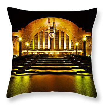 Union Terminal Throw Pillow