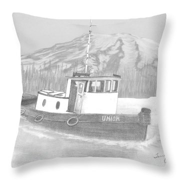 Tugboat Union Throw Pillow