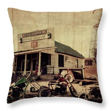 Throw Pillow featuring the photograph Unionville Genral Store by Joel Witmeyer