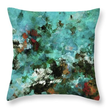 Throw Pillow featuring the painting Unique Abstract Art / Landscape Painting by Ayse Deniz