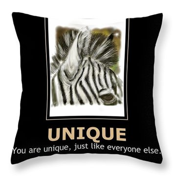 Unique Motivational Poster Throw Pillow