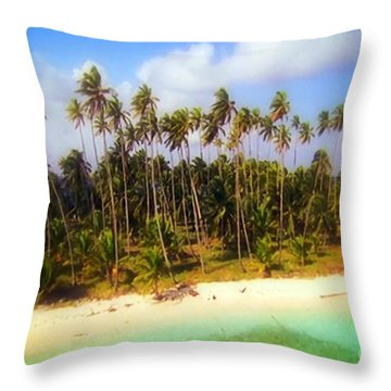 Unique Symbolic Island Art Photography Icon Zanzibar Sands Beaches Tourist Destination. Throw Pillow by Navin Joshi