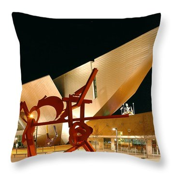 Uniquely Denver Throw Pillow by Jon Holiday