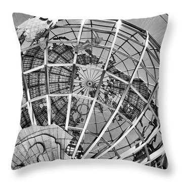 Unisphere In Black And White Throw Pillow