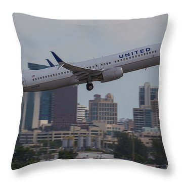 United Airlinea Throw Pillow